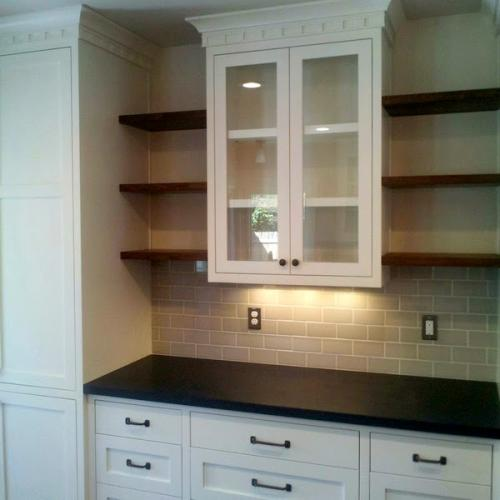 Kitchen hutch:floating shelves copy