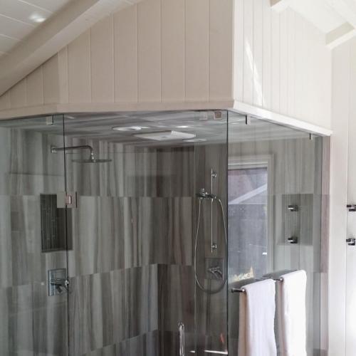 Master shower full view
