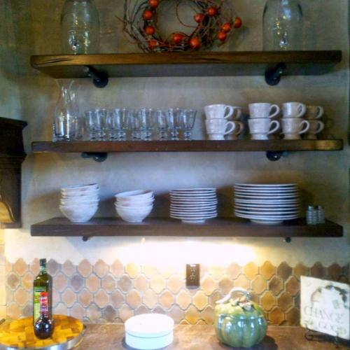 photo - shelves with dishes